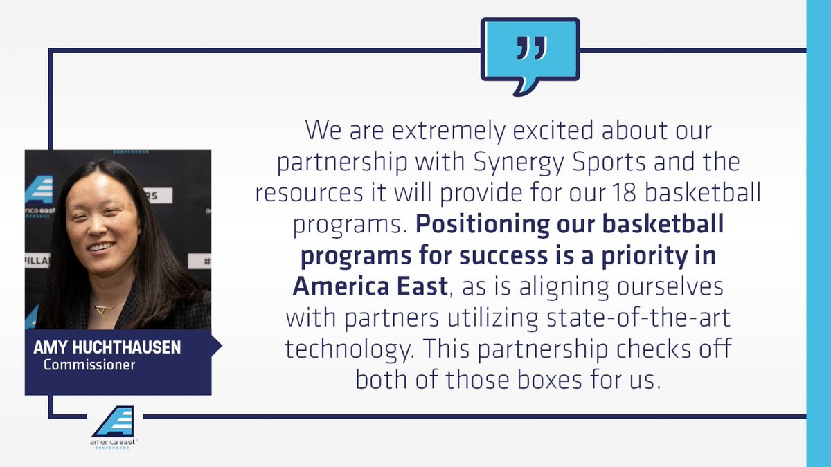 America East teams will install cutting edge cameras into their arenas to automatically track, record and log game action with @SynergySST. #AEHoops  Read more: https://t.co/Q2OBoLjY6N https://t.co/FzuHwsmnLi