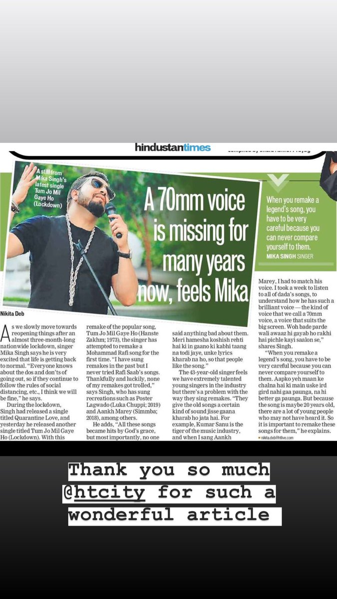 Thank you :) and check out my new song #Lockdown #Tumjomilgayeho   #Birthday #special.. @saregamasouth @MSMusicAndSound ...