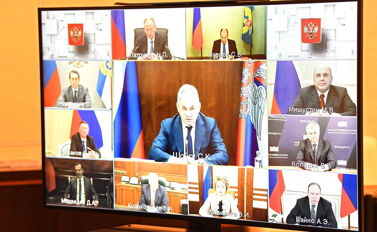 President Of Russia On Twitter Vladimir Putin Chaired A Meeting With Permanent Members Of The Russian Security Council Via Videoconference Https T Co Vahu2p9kds Https T Co 9hgsysrst4