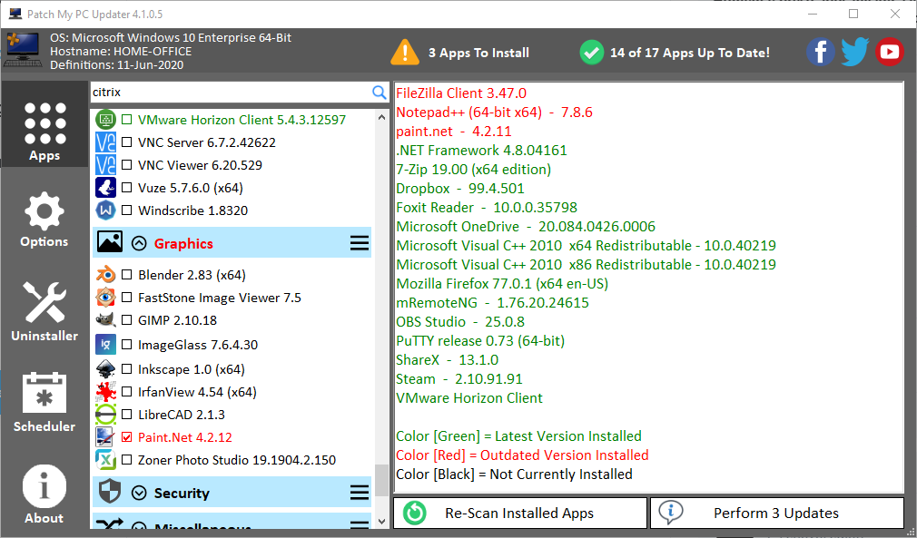If you are not using the FREE @PatchMyPC Home Edition (Schedule task) you are leaving your WFH users in the dark! And the paid version is AMAZING, we are using it weekly auto patch all Master Images World Wide in 12 Data Centers (when rebuild is not an option). https://t.co/3WrRBZ1uc9