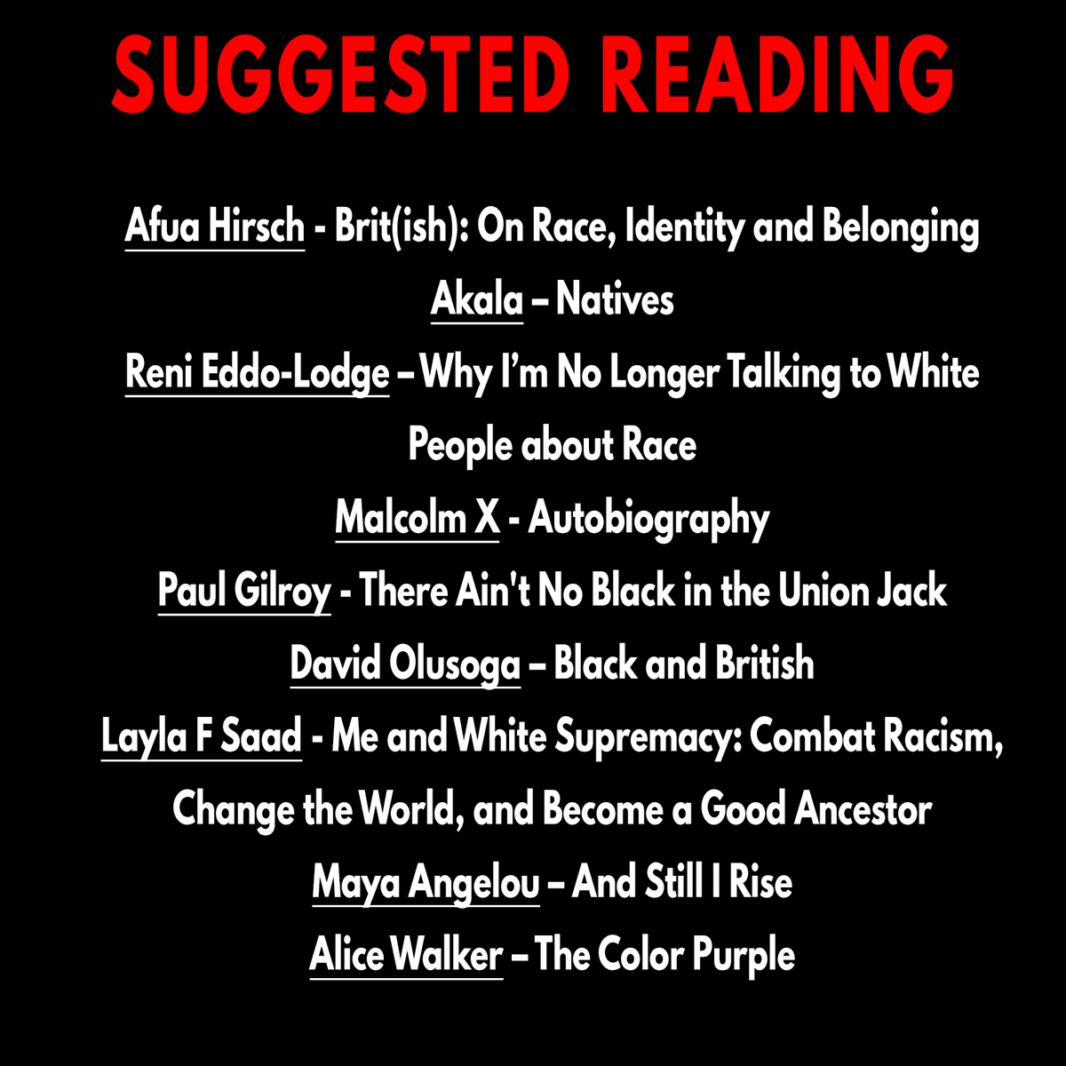 Suggested reading: