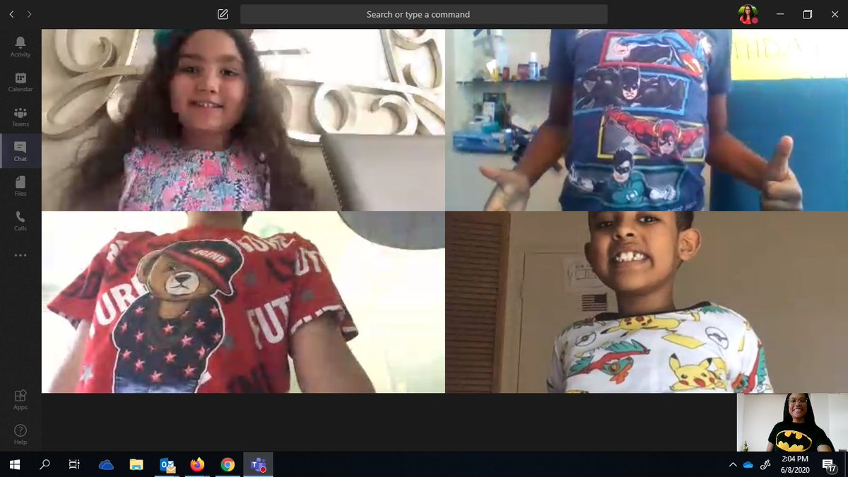 We were inspired by <a target='_blank' href='http://twitter.com/Miss_McAleer'>@Miss_McAleer</a>'s class and decided to celebrate our last week of school with a virtual spirit week! So far we've showed our spirit with favorite superheroes/characters and our Campbell gear/colors! <a target='_blank' href='http://twitter.com/CampbellAPS'>@CampbellAPS</a> <a target='_blank' href='https://t.co/xS9UR5RxT8'>https://t.co/xS9UR5RxT8</a>