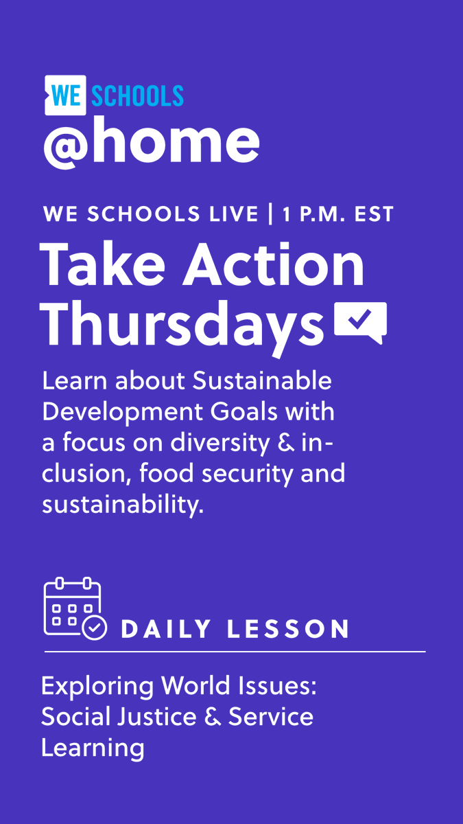 #WEschools is LIVE for #TakeActionThursday!  Join us now! - https://t.co/al8rvWvDIK https://t.co/Kkh66oMHwX