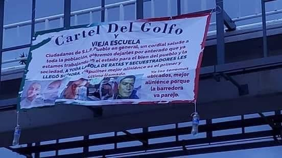 San Luis Potosi: 3 executed men and 5 narco messages in different parts of the state