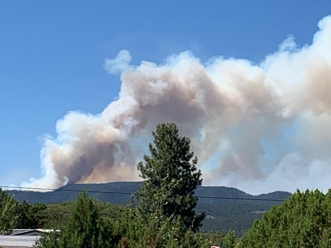 Tadpole Fire 6/10/2020 - Photo courtesy Inciweb