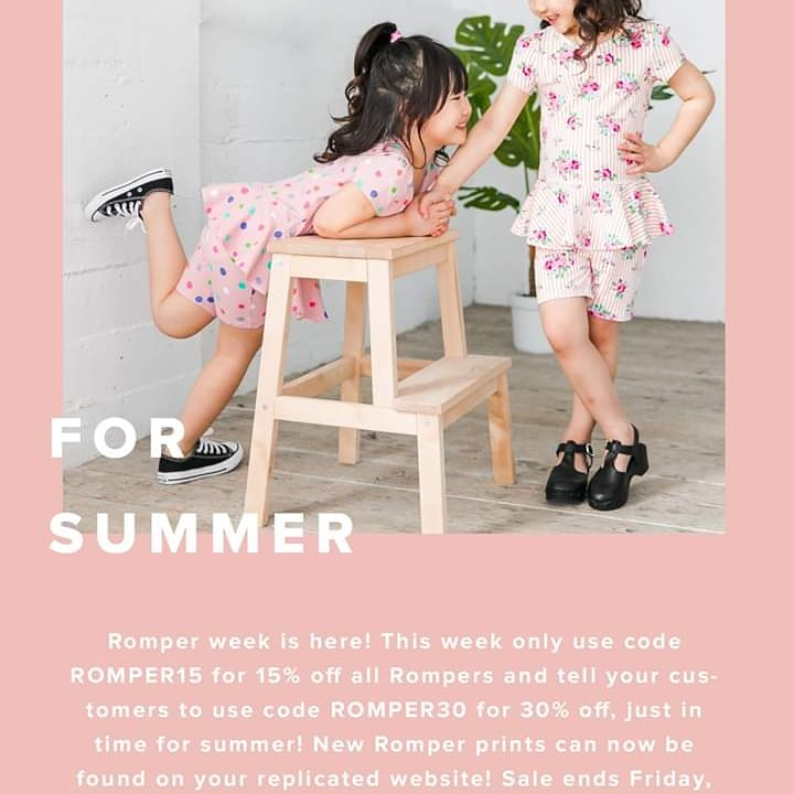 Don't forget romper sale is still going on 30% off with code ROMPER30.