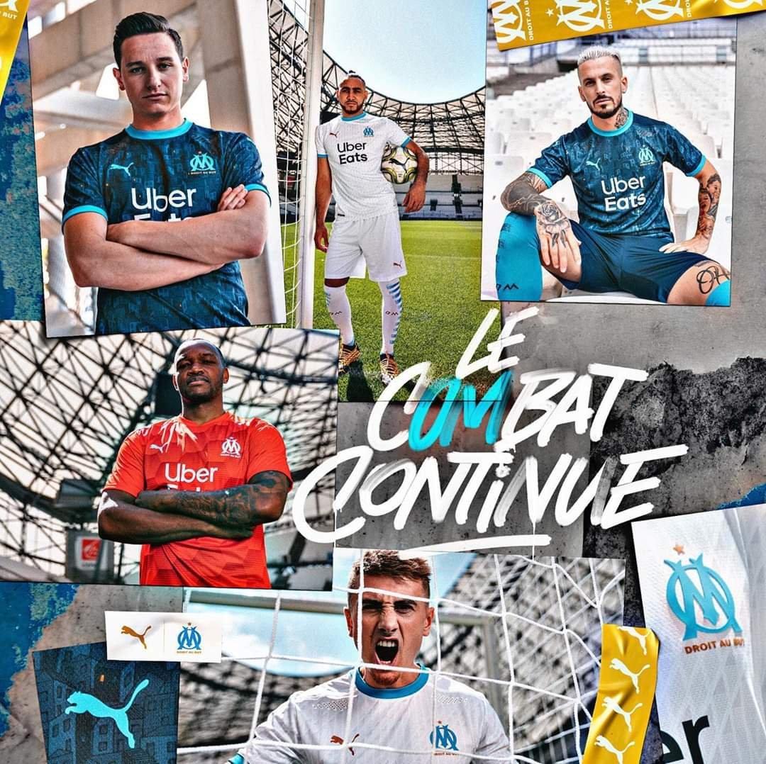 Les maillots de l'OM, domicile et extérieur, dévoilés officiellement par le club
