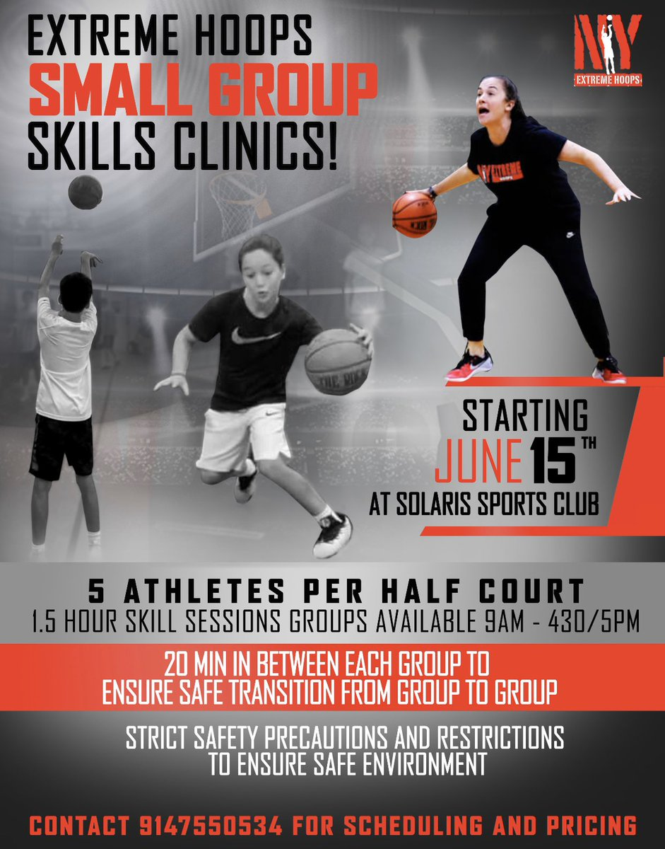 Small group training starts Monday! Text 9147550534 to reserve 90 min spot! The full schedule is on the website under training & special events! AAU practice begins week of June 22nd! Regular camps begin week of June 29th! All are offensive skill work & compeitions w/ no contact https://t.co/HISKjIJa4u
