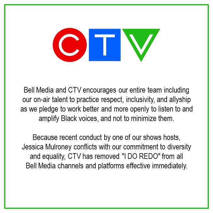 A statement from CTV regarding @jessicamulroney https://t.co/gDzmob51oa