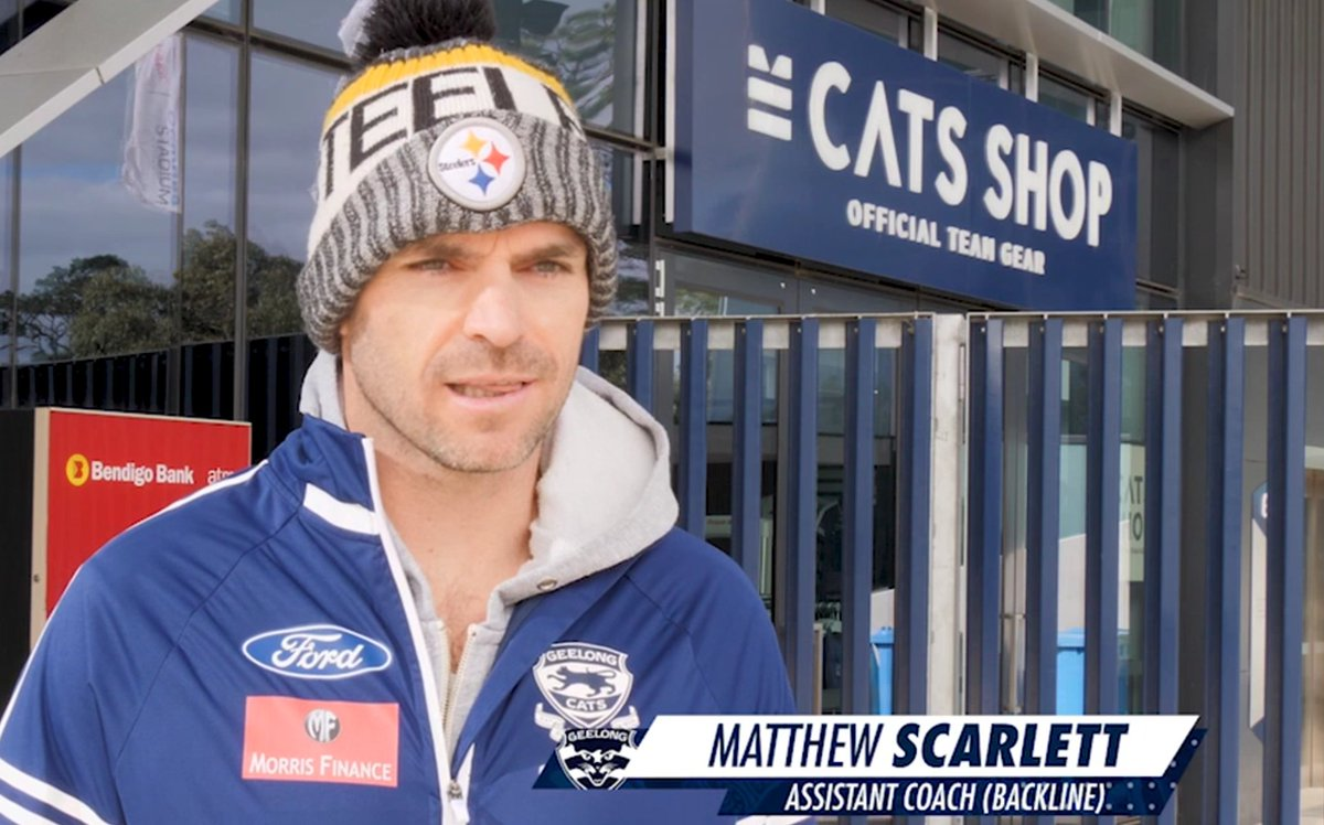 Geelong Cats On Twitter Tone Our Defensive Coach Scarlo Also The Greatest Full Back In The History Of The Game Is One Of The Biggest Reps For The Steelers Out There Including Doing