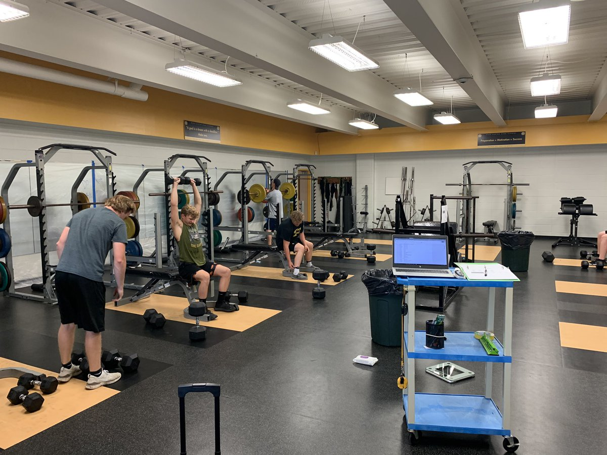 Great to see everyone this afternoon. Was awesome seeing the guys again and using the weight room for the first time since March! See you again Monday. #allfor1 Google Classroom will have final groups posted this weekend. https://t.co/sEZnid4S7G