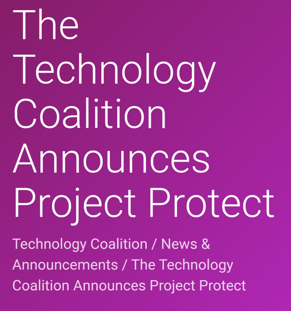Great steps by the #TechnologyCoalition Project Protect: A plan to combat online child sexual abuse.  together we can stop #CSEA. We are working in #India to raise awareness and combat #ChildSexualAbuse.
