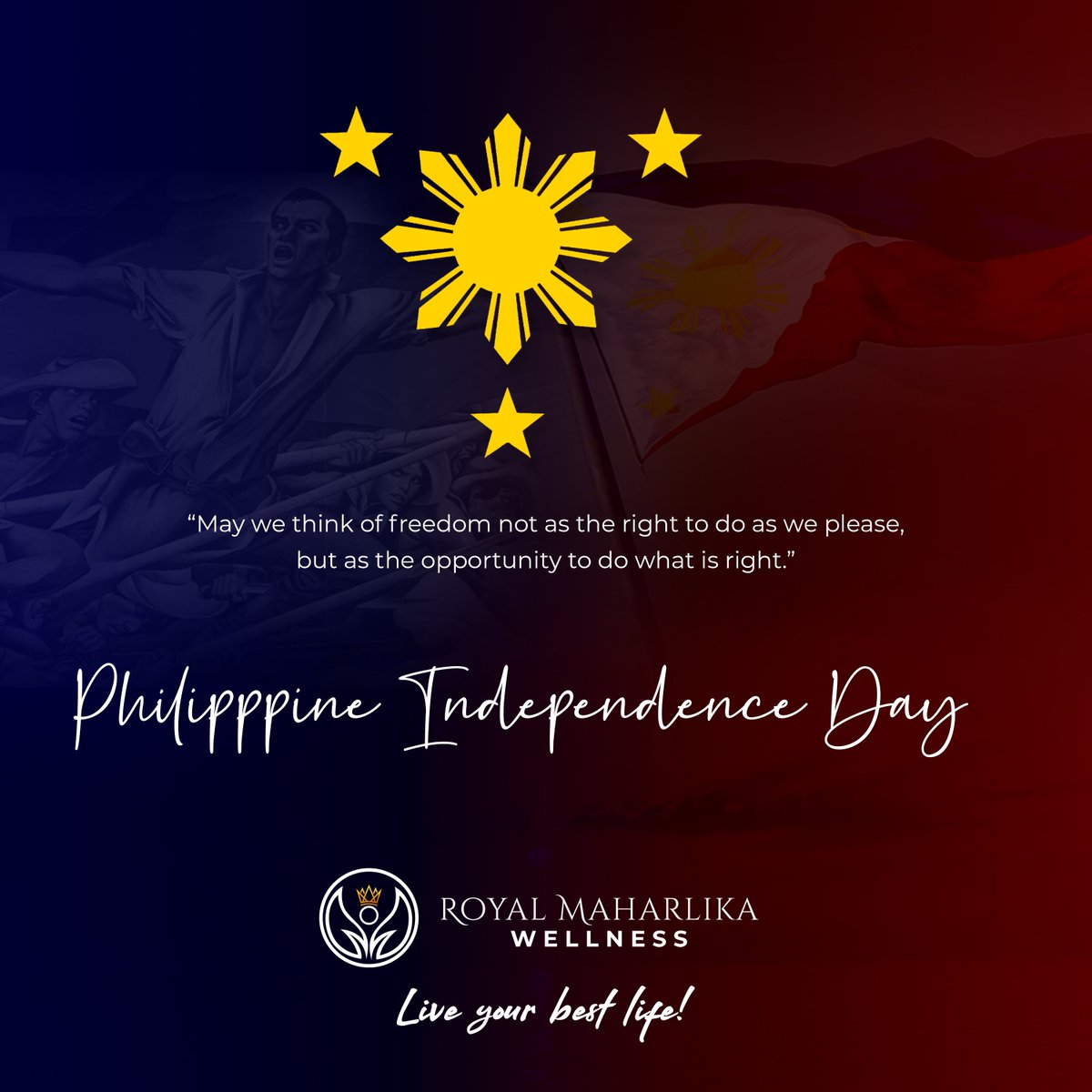 Let's make every Independence Day and everyday a time to use freedom well. #HappyPhilippineIndependenceDay https://t.co/ApR14SOUIw
