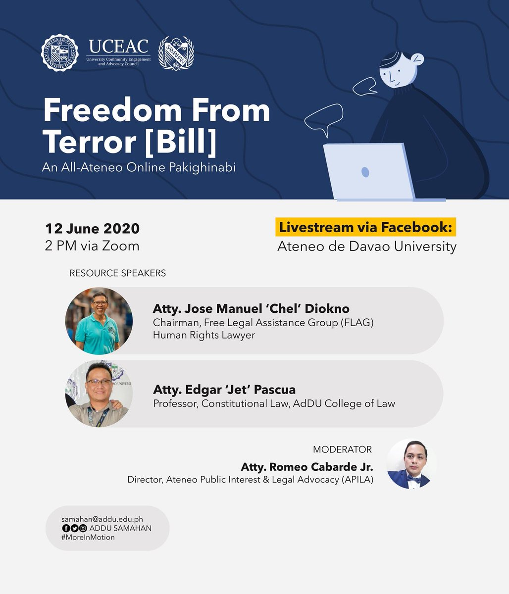 LIVE NOW | Freedom From Terror [Bill]: An All-Online Pakighinabi Link: bit.ly/AteneoFreedomF…