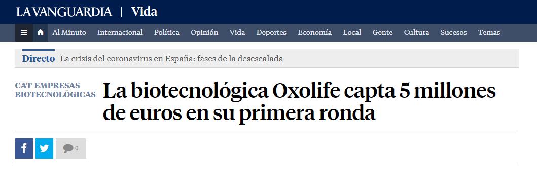 La biotecnológica @Oxolife, creada para desarrollar un nuevo tratamiento para mejorar la tasa de fertilidad femenina, capta 5 millones de euros en su primera ronda https://t.co/lIVAN9IfYv vía @LaVanguardia  cc @BStartup #BStartupHealth https://t.co/W9h2nR9OG5