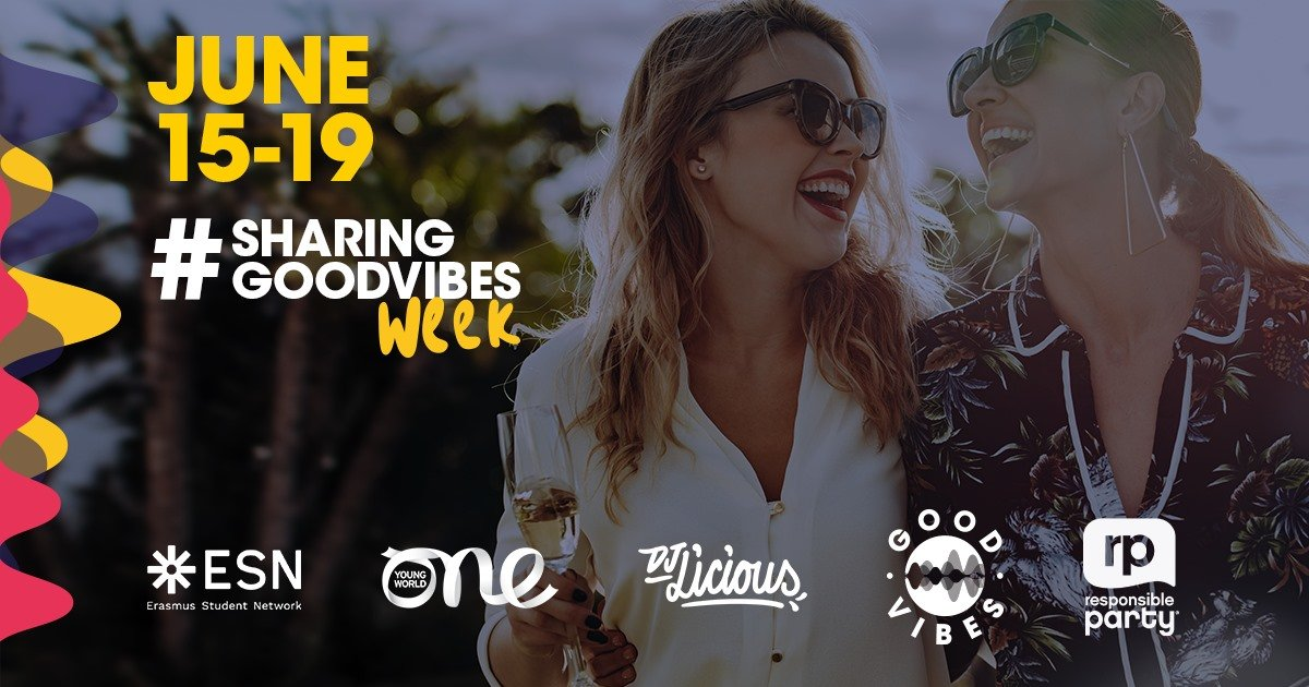 🥳 Responsible Party, @ESN_Intand @Pernod_Ricard'spartnership programme turns 11, so tune in on our social media channels for a week of #SharingGoodVibes✨ with special guests, a #liveconcert🎶 and the launch of a new online training platform. ⤵️ https://t.co/IBgbzZMhQT https://t.co/TObL0CJ07w