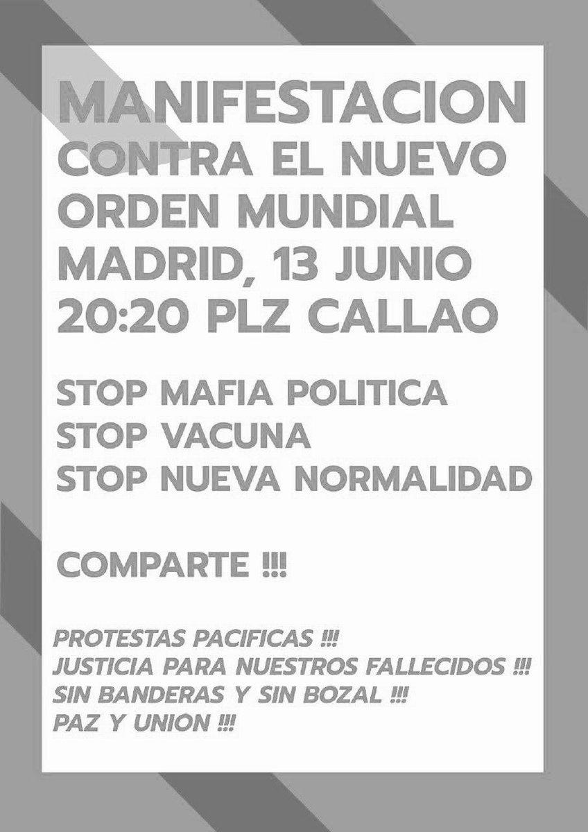 """Art Attack on Twitter: """"Mañana 13 de junio: ☑️Manifestación ..."""