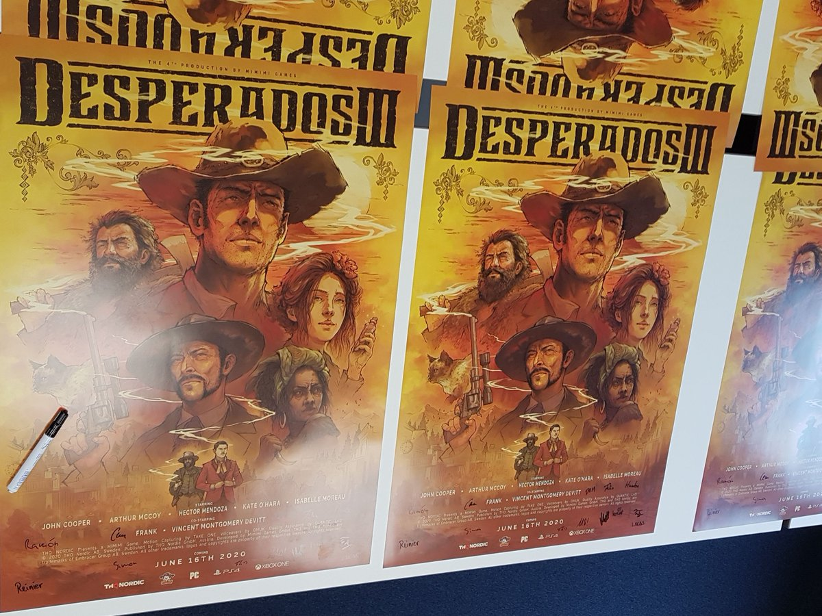 Mimimi On Twitter This Is The Exclusive Limited Dina1 Movie Style Desperados3 Poster It S Signed By The Mimimi Crew Only Available With The Mimimi Love Package In Our Eshop Preorder Now
