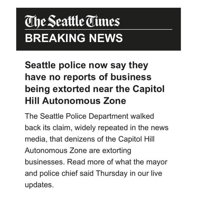 'Police 'walk back' their claim' OHH YOU MEAN THE POLICE LIED #chazseattle