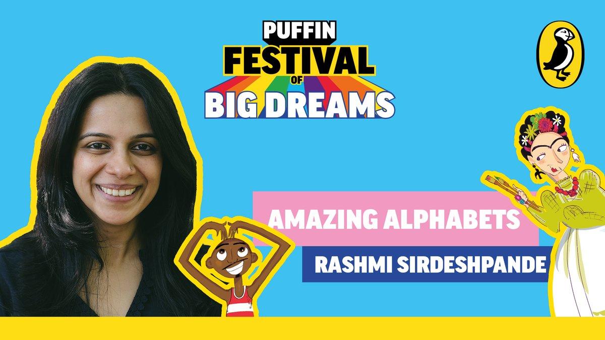 Experience ABCs like never before with Rashmi Sirdeshpande's Amazing Alphabets at 3:30!