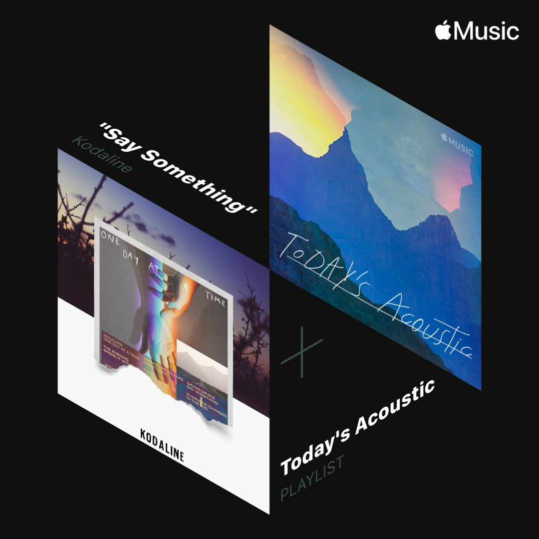 Our new album One Day At A Time' is out now on @AppleMusic . You can listen to our single Say Something on the playlist Today's Acoustic https://t.co/NFqhmMIwIe