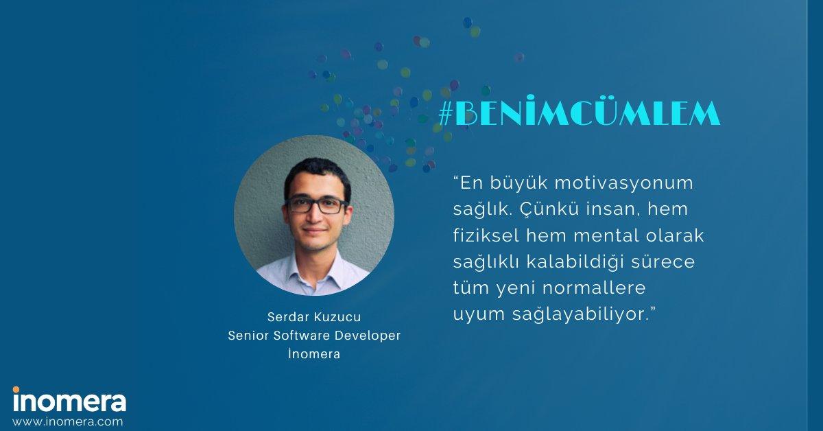Yeni normalin cümleleri devam ediyor! 😍  Katkıların için teşekkürler Serdar, iyi ki varsın!  #inomera #yeninormal #newnormal #evdençalışma #motivasyon #benimcümlem https://t.co/SyvJ8FMY2N