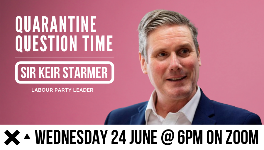 We've teamed up with Sir @Keir_Starmer to host our next Quarantine Question Time about how young people reimagine society post #COVID19.  This event will be held in partnership with @UKYouth &  @iWill_Campaign.  Get your tickets ▶️