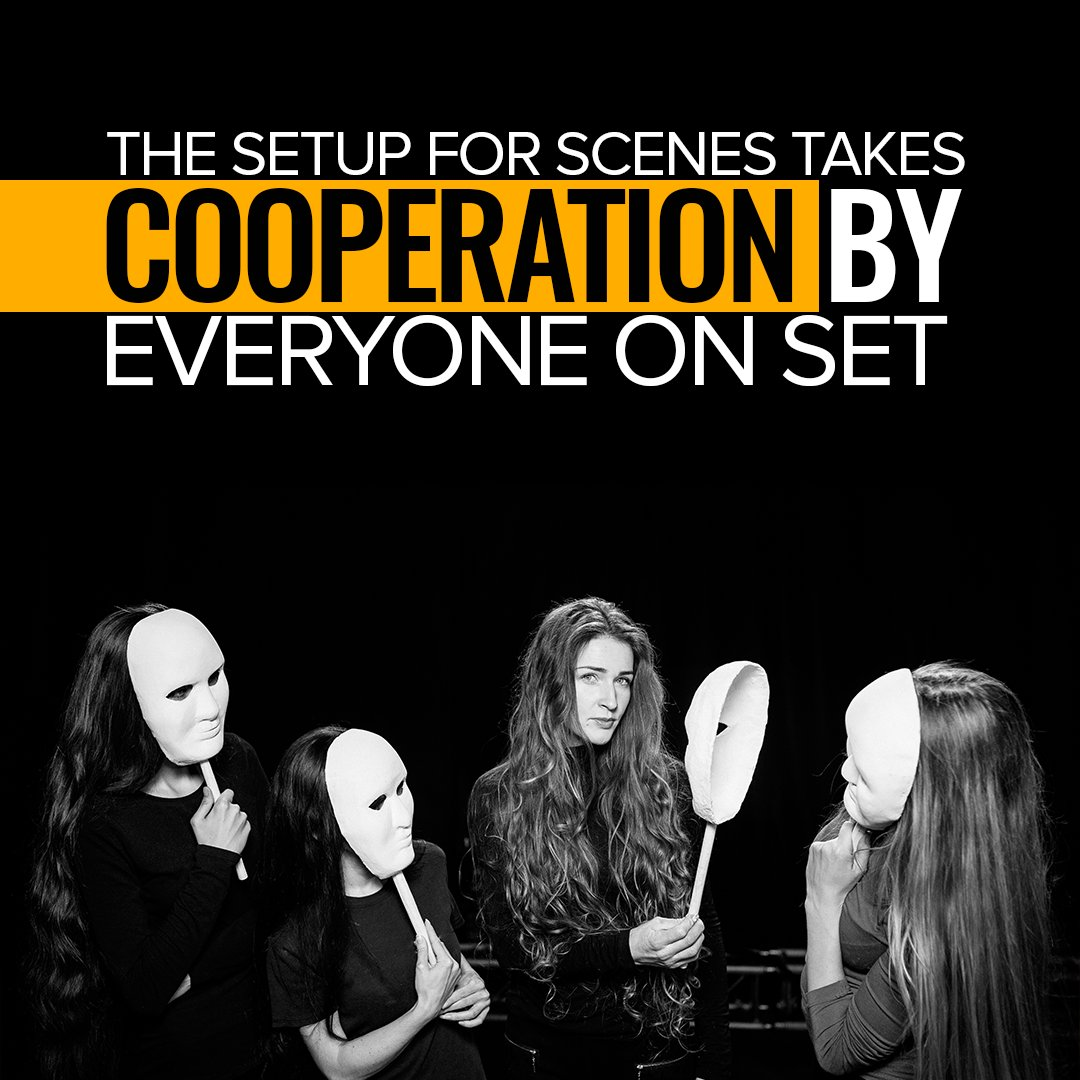 The setup for scenes takes cooperation by everyone on set. #author #writers #fame #famous #celebrity #acting #act #theatre #music #casting #direction #friday #fridayfeeling #fridaynight
