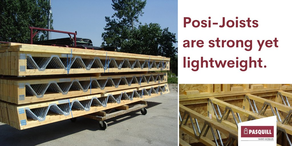 Are you looking for a strong yet lightweight joist? Well, that's just what you get with Posi-Joists. They come in a range of sizes and depths, are easy to install and can be used for both floors and roofs. #pasquill #roof #floor https://t.co/cHklhmVgjg https://t.co/5xPliZoIZo