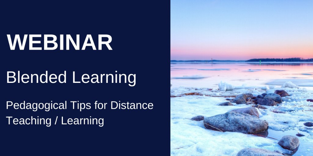 Join our 1st @worlddidac + Arctic Education Forum webinar on June 25th: Blended learning Host @JuhaMerinen Speakers: @PackalenMarkus from @qridicom  @PaloniemiJarmo from @osaotweet & J.Länsitie  @OamkAmok  More: https://t.co/9YNIy5VwmW  #arcticedu2020 #blendedlearning #edutwitter https://t.co/AkQhmTWCFj