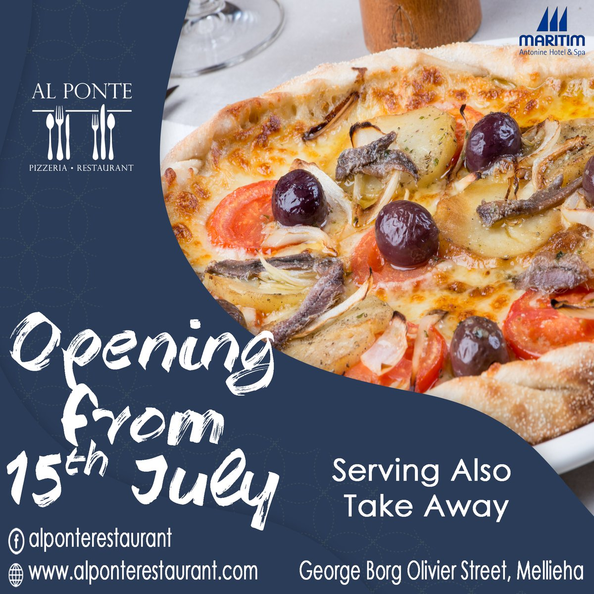 After the rough times, the sun is shining and we are eagerly looking forward to hosting you at Al Ponte Pizzeria & Restaurant.  We are all set to welcome you as from the 15th of July.  Government Vouchers will be accepted.  #reopening #alponte #takeaway #maritimmalta #vouchers https://t.co/uayBe5PdmP