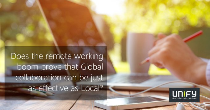 Does the current boom in #RemoteWorking prove that international #collaboration works just as...