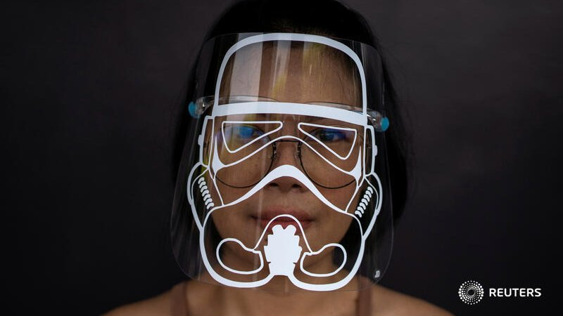 The Force is strong with this one... The Thai mum making themed face shields against #coronavirus https://t.co/R2qtdrDeVg story by @KuhakanJiraporn with picture by @Athit_P https://t.co/GEQvYFDxbh