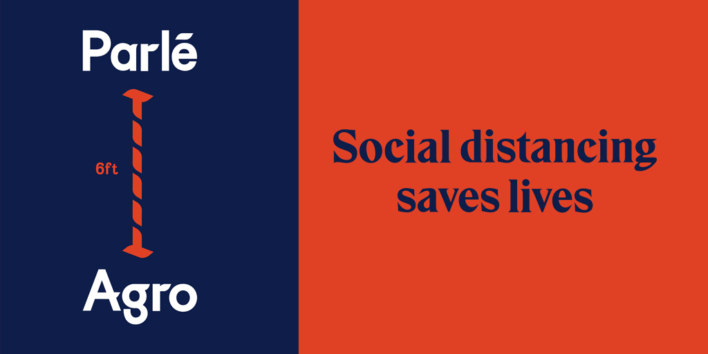 Life is better when you are six feet away. You can help yourself and your loved ones stay healthy especially during these tough times. Let's all be responsible and practice social distancing. #StaySafe  #SocialDistancing  #ParleAgro https://t.co/HVNhhCqJPQ