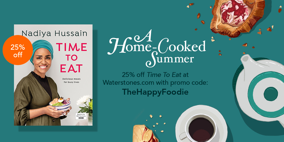 "From now until 30 June we're offering an exclusive 25% discount off @BegumNadiya's time To Eat at @Waterstones. Just click here and use the code ""TheHappyFoodie"": https://t.co/qmzzwX4cKg https://t.co/m73mgh0N8K"