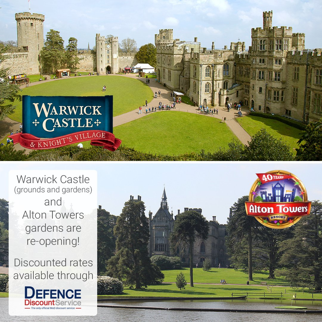 Get exclusive discounts on Alton Towers Gardens tickets and entry to Warwick Castle Grounds and Gardens through DDS!  Tickets are available now and can be booked via our website!  (All tickets will have to be booked in advance, on-the-day tickets are not available) https://t.co/bGfhr1TbnG