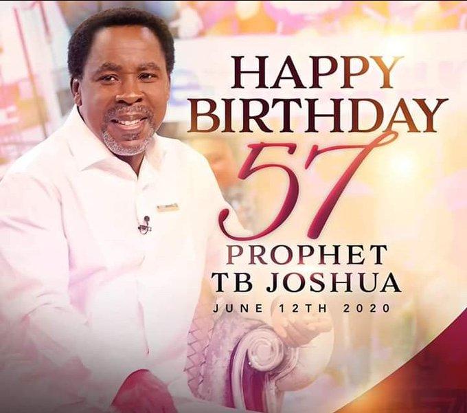 Happy birthday to senior prophet T. B Joshua I wish you more grace and long life