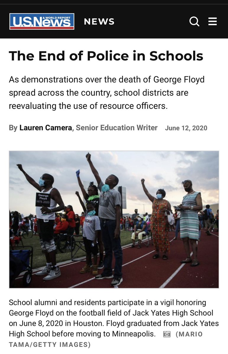I've been waiting to see this headline for years. ✊🏾 #PoliceFreeSchools usnews.com/news/the-repor…