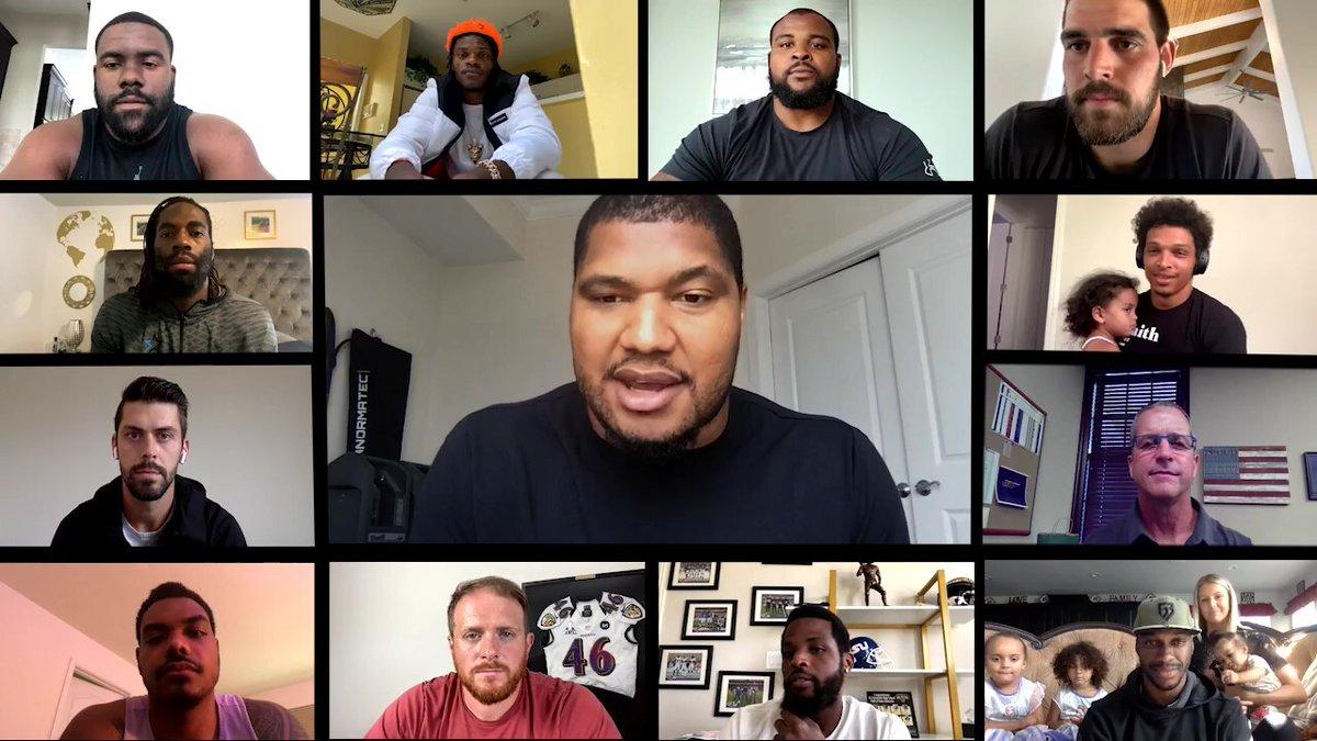 Ravens united. Black Lives Matter.