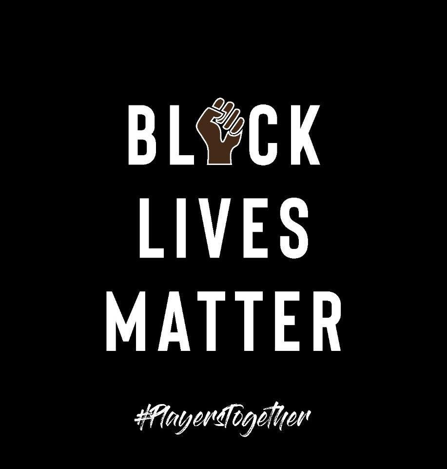 We, the Players, stand together with the singular objective of eradicating racial prejudice wherever it exists, to bring about a global society of inclusion, respect, and equal opportunities for All, regardless of their colour or creed. #blacklivesmatter #playerstogether