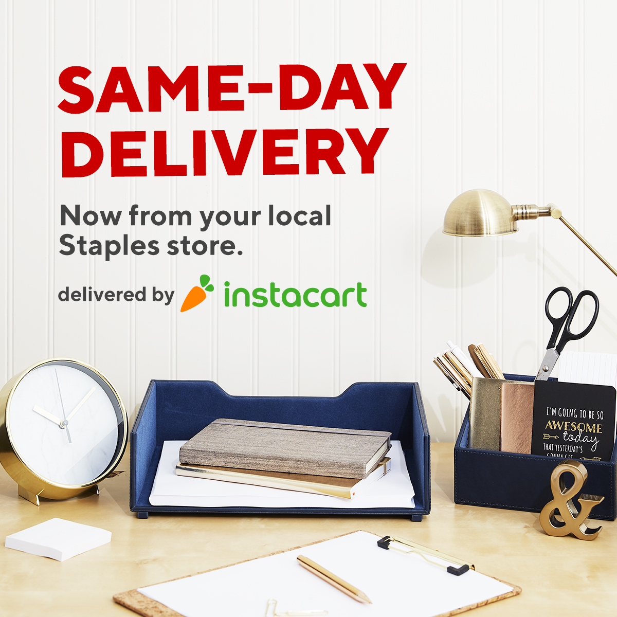 Introducing same-day delivery with @Instacart — a quick, convenient and safe shopping option. Order now: https://t.co/WGPCvucCp0 https://t.co/4b2JxpYz2T