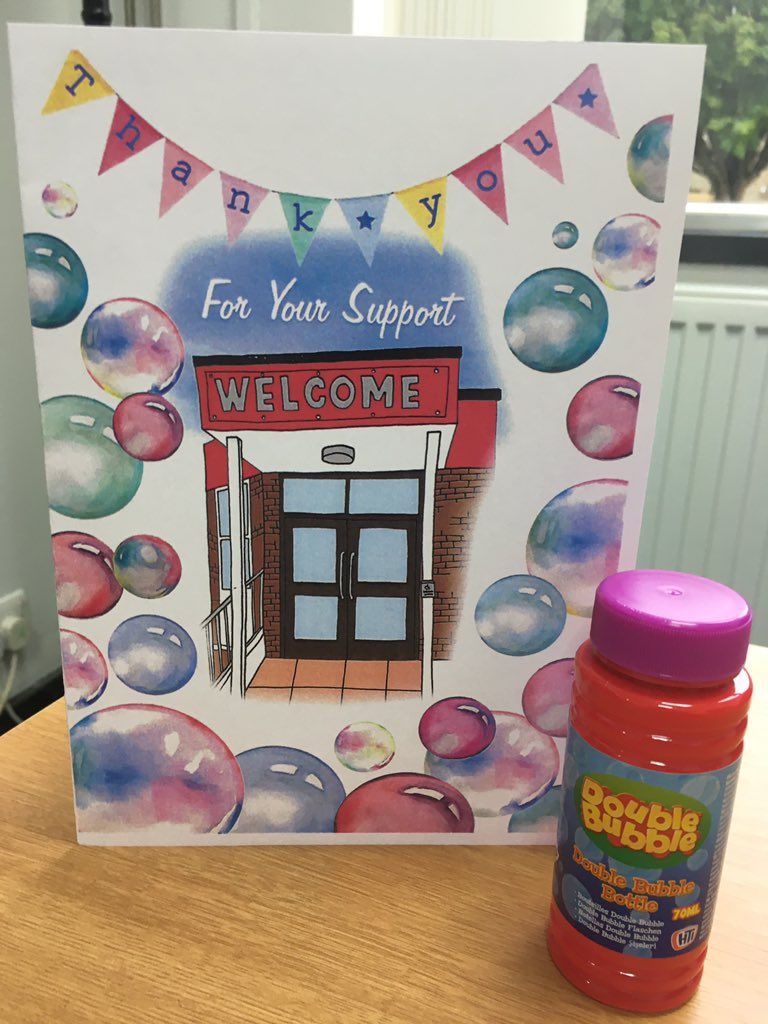 To celebrate another fantastic week in school, @TrinityAcademyH have sent all our children home with a Thank You card and some bubbles. 🎉  We really appreciate the ongoing support of all our families - it's great to be back!