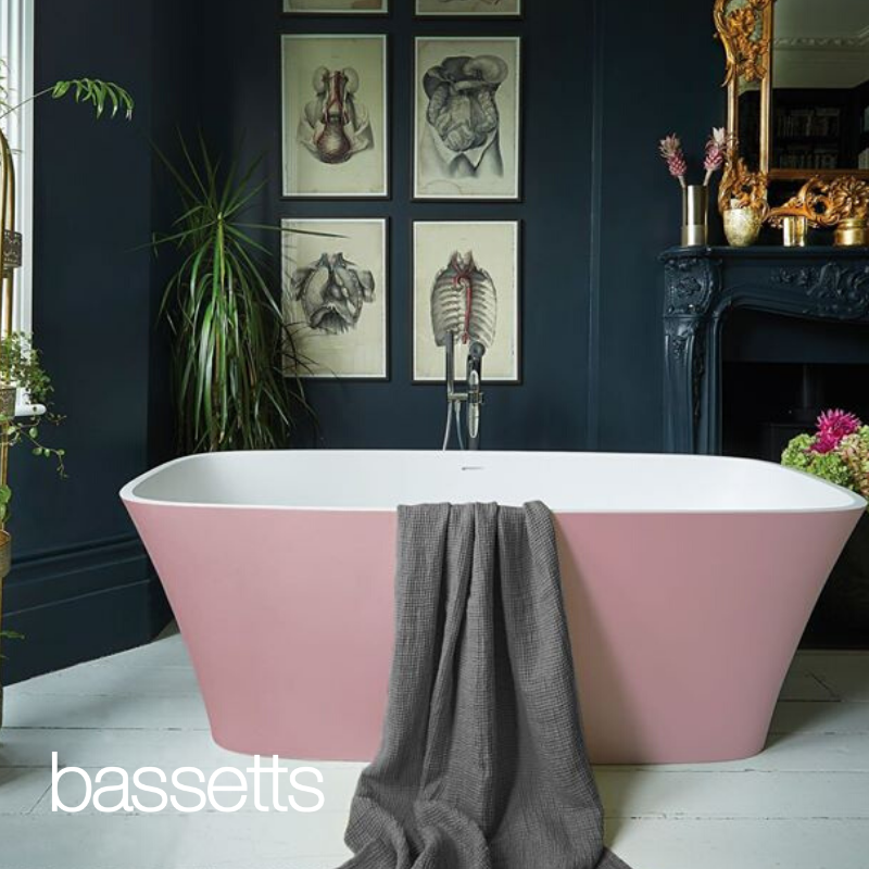 Pinky and perky is how we're heading into the weekend.  Bringing a blush of colour into your bathroom, our Waters Haze freestanding bath has made it in our line up of lushness. https://t.co/bVFrRv4qzI