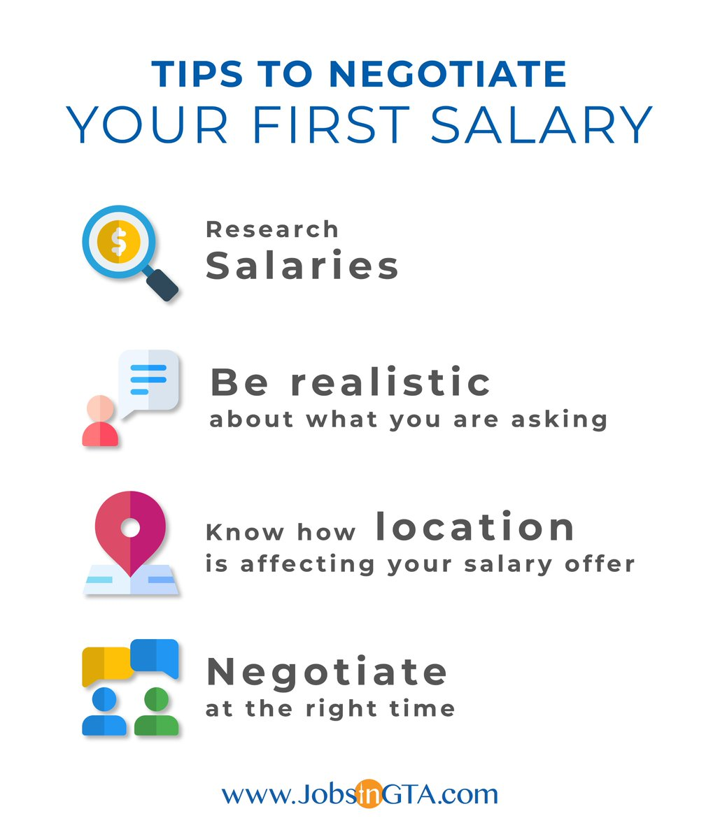 Negotiating your salary is extremely important, especially in your first job. Your starting salary serves as an anchor throughout your career. Sigunup @ https://t.co/PHvvuzXXkZ & get hired by the best employers in GTA. https://t.co/h3s0A7uSfz