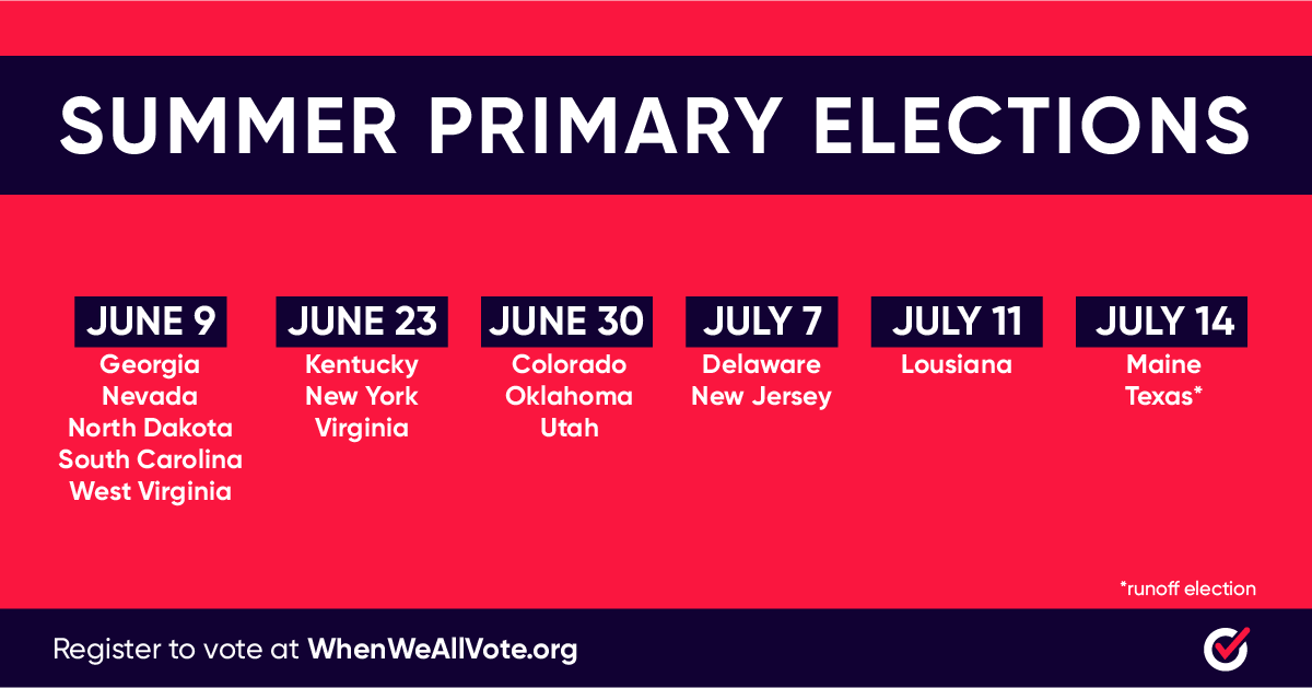 Eleven states have primaries coming up. Will you make your voice heard? whenweallvote.org/register