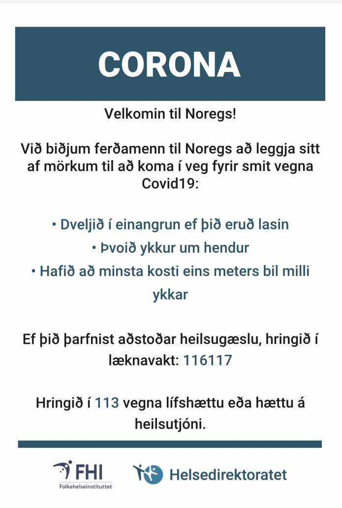 Norwayiniceland On Twitter Norway Is Open For Tourists Travelling From Iceland From 15 June Velkomin Til Noregs Https T Co 6diulx5mys