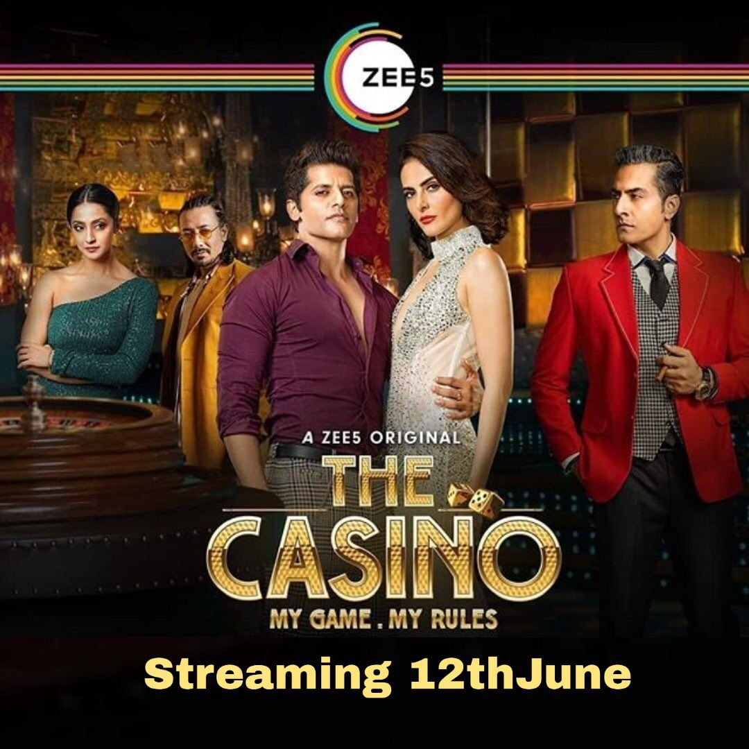 Watch #TheCasino, premieres 12th June, on #ZEE5.my bro @KVBohr  @manizhe | @sudhanshu1974 | @AindritaR | @gajjarhardik |  @mantramugdh