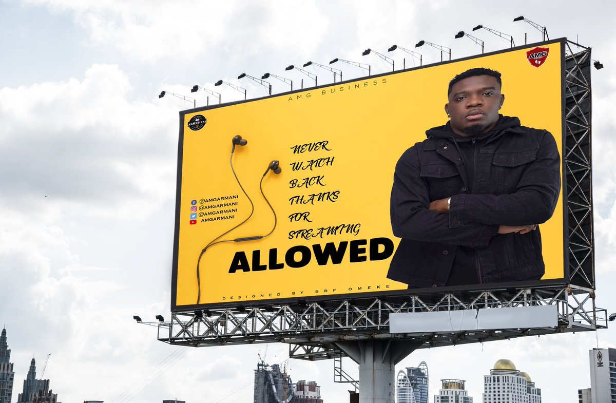 Designing makes me happy. This is an appreciation design to all those who have spend data ,time and money to stream , retweet, retweet, like and share #ALLOWED by @amgarmani ft @AmgMedikal ft @Quamina_Mp . May God bless you all for streaming #Allowed.  @__theSeyram @AsieduMends https://t.co/Tp5xQgYTmV