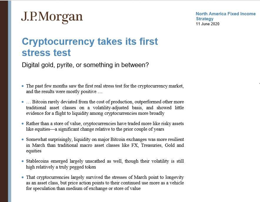 J.P.Morgan Bitcoin analysis