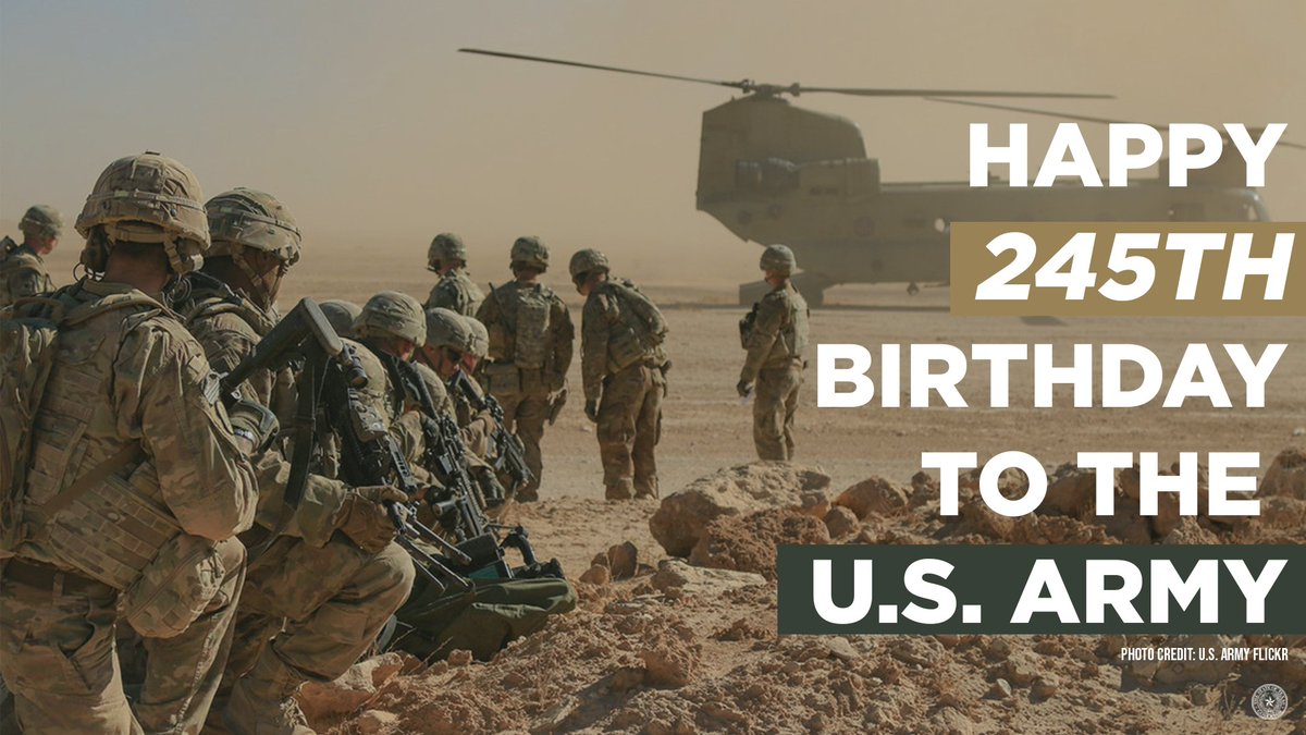 Happy Birthday to the @USArmy. Thank you for your service and dedication to our great nation. #ArmyStrong